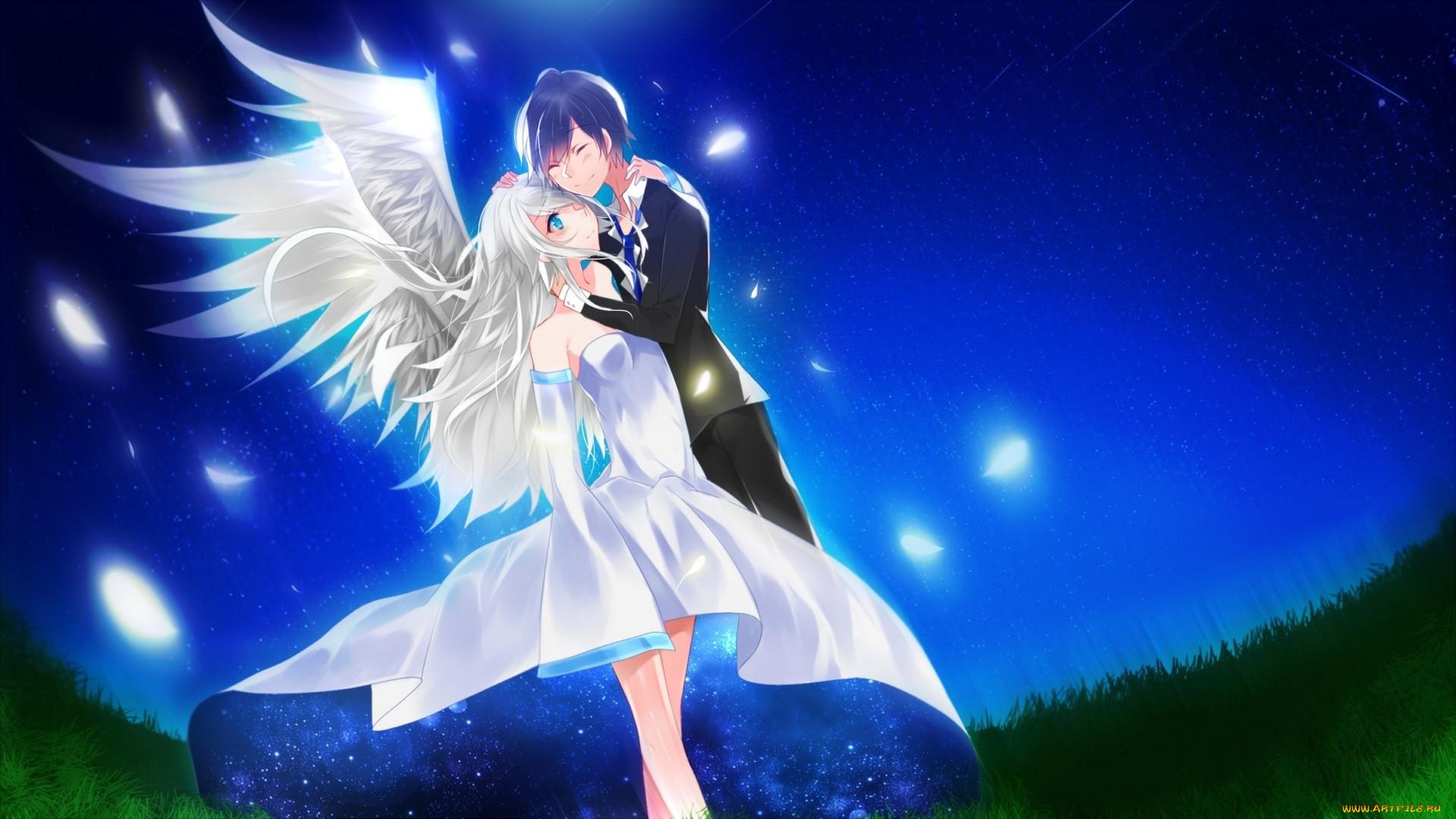 Аниме демоны парни и ангелы картинки